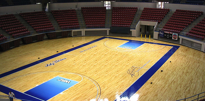 Basketball Court using Maple Hardwood Athletic Floor