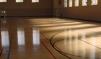 Hardwoord Floor Installations, Gym